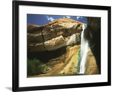 View of Waterfall in Grand Staircase Escalante National Monument, Utah, USA-Scott T^ Smith-Framed Art Print
