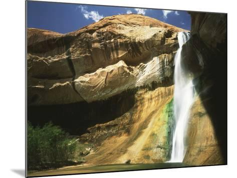 View of Waterfall in Grand Staircase Escalante National Monument, Utah, USA-Scott T^ Smith-Mounted Photographic Print