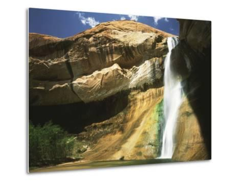 View of Waterfall in Grand Staircase Escalante National Monument, Utah, USA-Scott T^ Smith-Metal Print