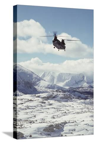 Chinook Search and Rescue Helicopter, Sequoia and Kings Canyon, California, USA-Gerry Reynolds-Stretched Canvas Print