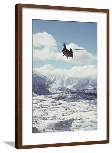 Chinook Search and Rescue Helicopter, Sequoia and Kings Canyon, California, USA-Gerry Reynolds-Framed Art Print