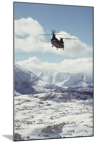 Chinook Search and Rescue Helicopter, Sequoia and Kings Canyon, California, USA-Gerry Reynolds-Mounted Photographic Print