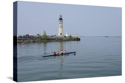 Buffalo Lighthouse, 1833, Us Coast Guard Base, Lake Erie, Buffalo, New York, USA-Cindy Miller Hopkins-Stretched Canvas Print
