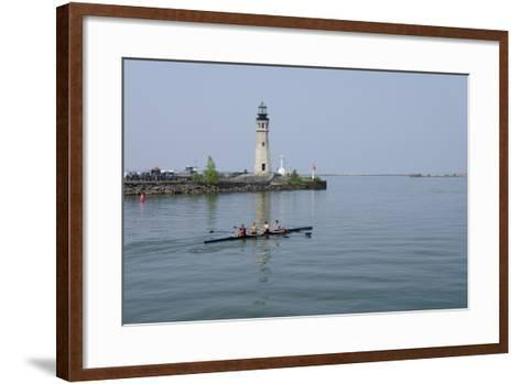 Buffalo Lighthouse, 1833, Us Coast Guard Base, Lake Erie, Buffalo, New York, USA-Cindy Miller Hopkins-Framed Art Print