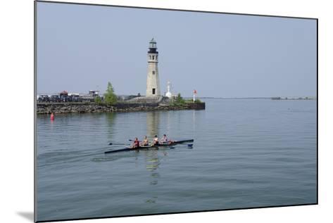 Buffalo Lighthouse, 1833, Us Coast Guard Base, Lake Erie, Buffalo, New York, USA-Cindy Miller Hopkins-Mounted Photographic Print