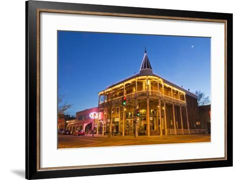 The Weatherford Hotel at Dusk in Historic Downtown Flagstaff, Arizona, USA-Chuck Haney-Framed Art Print