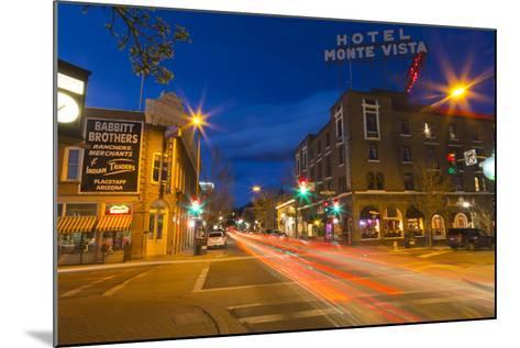 San Francisco Street at Dusk in Historic Downtown Flagstaff, Arizona, USA-Chuck Haney-Mounted Photographic Print