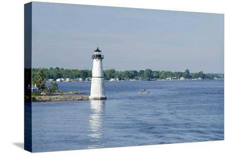 Lighthouse, St. Lawrence Seaway, Thousand Islands, New York, USA-Cindy Miller Hopkins-Stretched Canvas Print