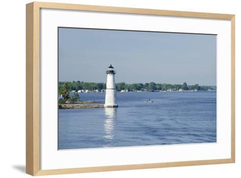 Lighthouse, St. Lawrence Seaway, Thousand Islands, New York, USA-Cindy Miller Hopkins-Framed Art Print