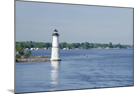 Lighthouse, St. Lawrence Seaway, Thousand Islands, New York, USA-Cindy Miller Hopkins-Mounted Photographic Print