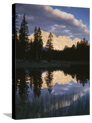 View of Reflecting Mountain in Bear River, High Uintas Wilderness, Utah, USA-Scott T^ Smith-Stretched Canvas Print