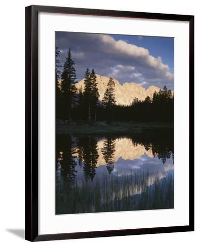 View of Reflecting Mountain in Bear River, High Uintas Wilderness, Utah, USA-Scott T^ Smith-Framed Art Print