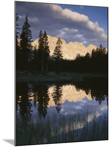 View of Reflecting Mountain in Bear River, High Uintas Wilderness, Utah, USA-Scott T^ Smith-Mounted Photographic Print