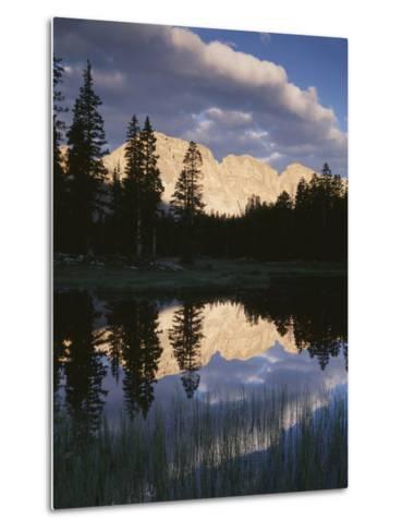 View of Reflecting Mountain in Bear River, High Uintas Wilderness, Utah, USA-Scott T^ Smith-Metal Print