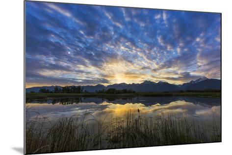 Pond Reflects the Mission Mountains, Ninepipe, Mission Valley, Montana, USA-Chuck Haney-Mounted Photographic Print