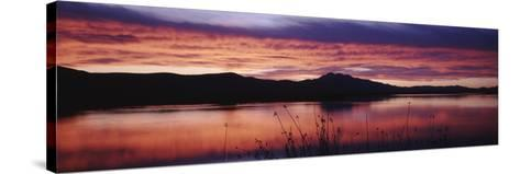 Stratus Clouds, Cutler Reservoir, Bear River, Cache Valley, Great Basin, Utah, USA-Scott T^ Smith-Stretched Canvas Print