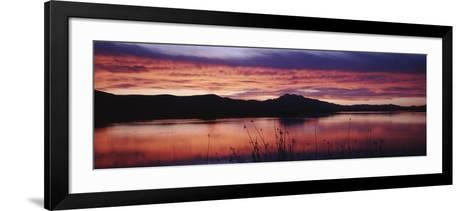 Stratus Clouds, Cutler Reservoir, Bear River, Cache Valley, Great Basin, Utah, USA-Scott T^ Smith-Framed Art Print