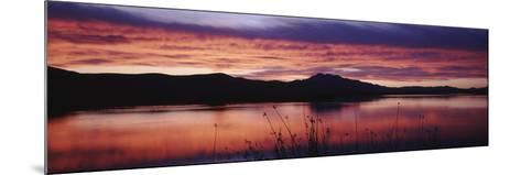Stratus Clouds, Cutler Reservoir, Bear River, Cache Valley, Great Basin, Utah, USA-Scott T^ Smith-Mounted Photographic Print