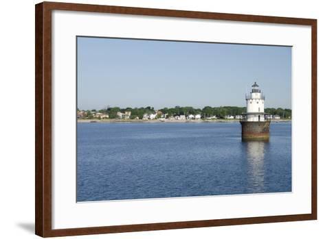 Butler Flats Light, Spark Plug Lighthouse at New Bedford Harbor, Massachusetts, USA-Cindy Miller Hopkins-Framed Art Print