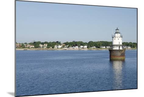 Butler Flats Light, Spark Plug Lighthouse at New Bedford Harbor, Massachusetts, USA-Cindy Miller Hopkins-Mounted Photographic Print