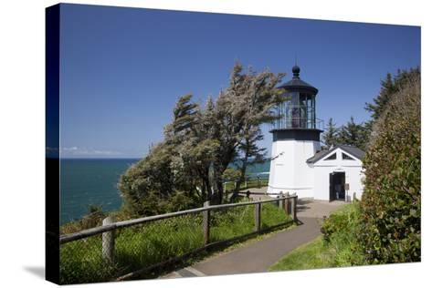 Cape Meares State Viewpoint, Cape Meares Lighthouse, Oregon, USA-Jamie & Judy Wild-Stretched Canvas Print