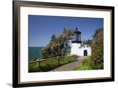Cape Meares State Viewpoint, Cape Meares Lighthouse, Oregon, USA-Jamie & Judy Wild-Framed Art Print