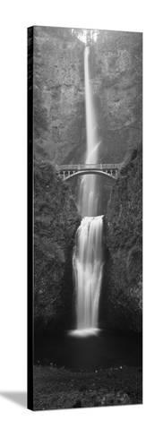 View of Multnomah Falls in Columbia Gorge, Oregon, USA-Walter Bibikow-Stretched Canvas Print