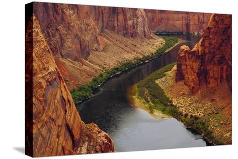 Colorado River from Page, Arizona Overlook, USA-Michel Hersen-Stretched Canvas Print