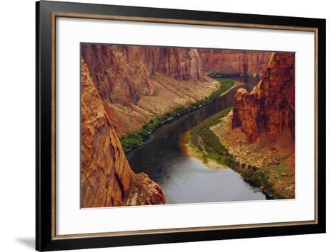 Colorado River from Page, Arizona Overlook, USA-Michel Hersen-Framed Art Print