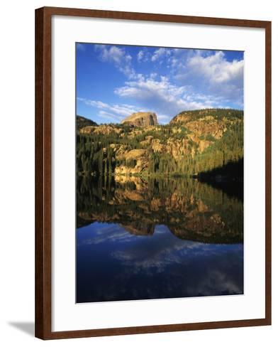 Hallett Peak in Bear Lake, Rocky Mountains National Park, Colorado, USA-Adam Jones-Framed Art Print