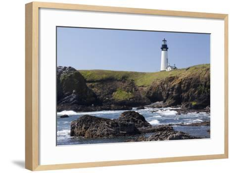 Yaquina Head Lighthouse, 1873, Newport, Oregon, USA-Jamie & Judy Wild-Framed Art Print
