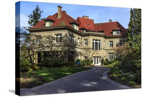 Pittock Mansion, Portland, Oregon, USA-Rick A^ Brown-Stretched Canvas Print
