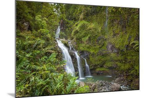 Waikani Waterfalls, Aka Three Bears, Hana Coast, Maui, Hawaii, USA-Douglas Peebles-Mounted Photographic Print