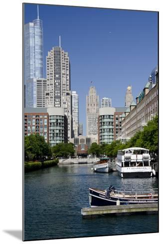 Canal View of the Chicago's Magnificent Mile City Skyline, Chicago, Illinois-Cindy Miller Hopkins-Mounted Photographic Print