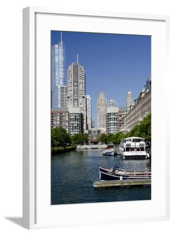 Canal View of the Chicago's Magnificent Mile City Skyline, Chicago, Illinois-Cindy Miller Hopkins-Framed Art Print