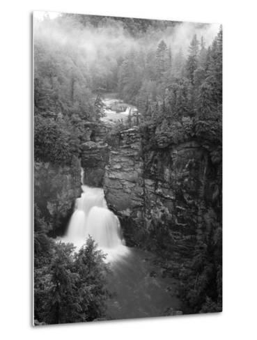 Linville Falls, Linville Gorge, Pisgah National Forest, North Carolina, USA-Adam Jones-Metal Print