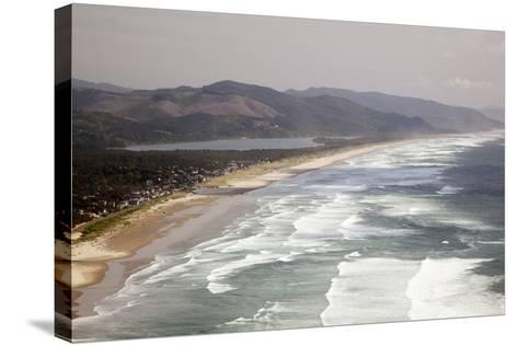 Neahkahnie Beach and Manzanita and Beach from Viewpoint, Oregon, USA-Jamie & Judy Wild-Stretched Canvas Print
