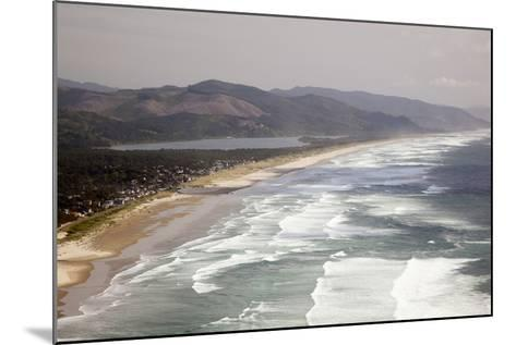 Neahkahnie Beach and Manzanita and Beach from Viewpoint, Oregon, USA-Jamie & Judy Wild-Mounted Photographic Print