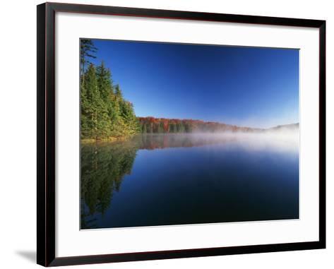 Autumn Trees, Adams Reservoir, Woodford State Park, Vermont, USA-Adam Jones-Framed Art Print