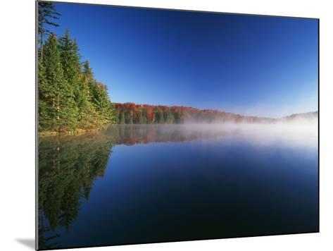 Autumn Trees, Adams Reservoir, Woodford State Park, Vermont, USA-Adam Jones-Mounted Photographic Print