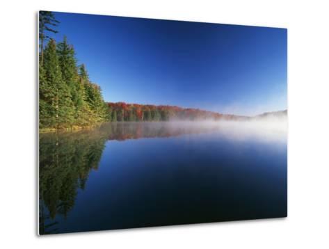 Autumn Trees, Adams Reservoir, Woodford State Park, Vermont, USA-Adam Jones-Metal Print
