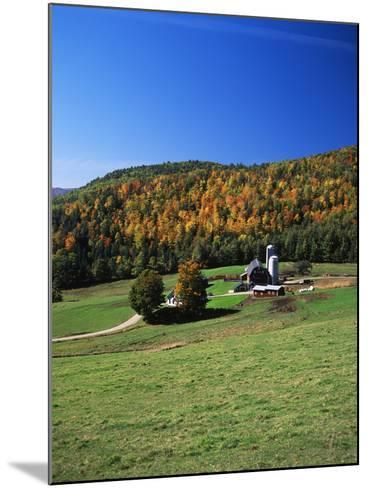 View of Silo and Autumn Landscape, Northeast Kingdom, Vermont, USA-Walter Bibikow-Mounted Photographic Print