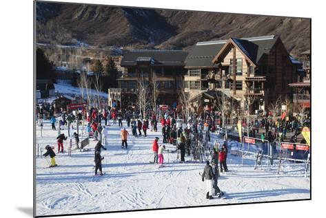 Snowmass Village, Snowmass Village Ski Area, Colorado, USA-Walter Bibikow-Mounted Photographic Print