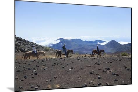 Horseback Trail Ride, Haleakala National Park, Maui, Hawaii, USA-Douglas Peebles-Mounted Photographic Print