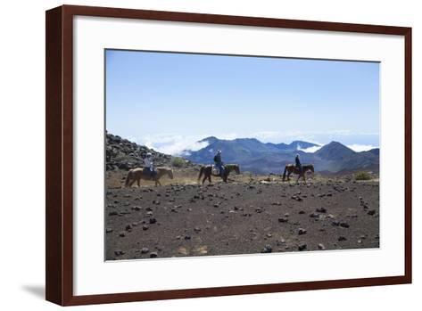 Horseback Trail Ride, Haleakala National Park, Maui, Hawaii, USA-Douglas Peebles-Framed Art Print