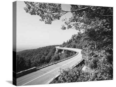 Linn Cove Viaduct, Blue Ridge Parkway National Park, North Carolina, USA-Adam Jones-Stretched Canvas Print