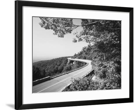 Linn Cove Viaduct, Blue Ridge Parkway National Park, North Carolina, USA-Adam Jones-Framed Art Print