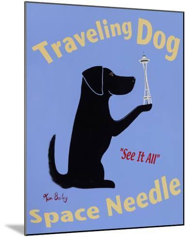 Traveling Dog, Space Needle-Ken Bailey-Mounted Premium Giclee Print