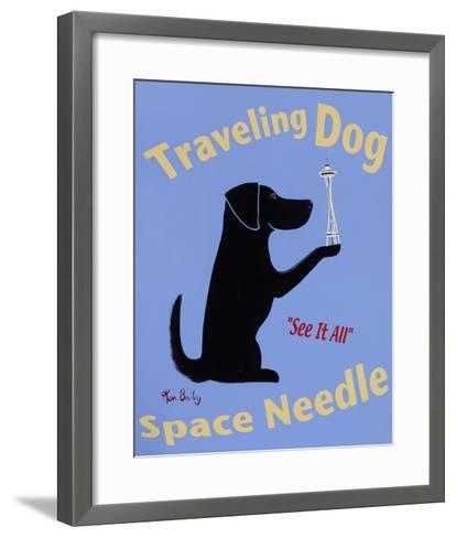 Traveling Dog, Space Needle-Ken Bailey-Framed Art Print