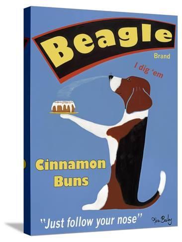 Beagle Buns-Ken Bailey-Stretched Canvas Print